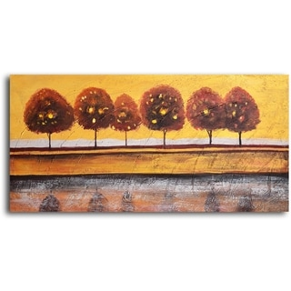 Hand-painted 'Luminaria Tree Reflection' Oil Painting