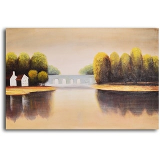 Hand-painted 'Bridge to Home' Oil Painting