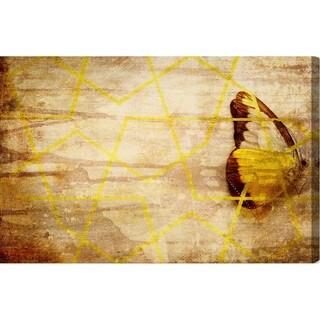 Oliver Gal 'Mariposa' Animals Wall Art Canvas Print - Yellow, Brown