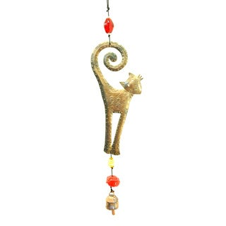 Handmade Curly Cat Wind Chime (India)