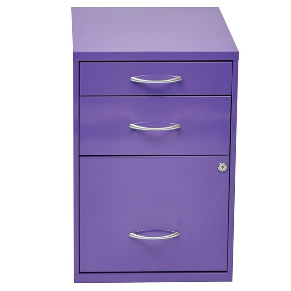 Locking Storage Drawer and Silver Handles File Cabinet - Free ...