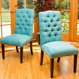 Crown Top Fabric Dining Chair (Set of 2) by Christopher Knight Home