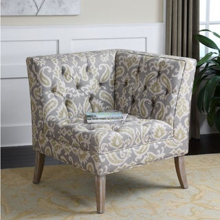 Uttermost Meliso Ikat Grey Corner Chair