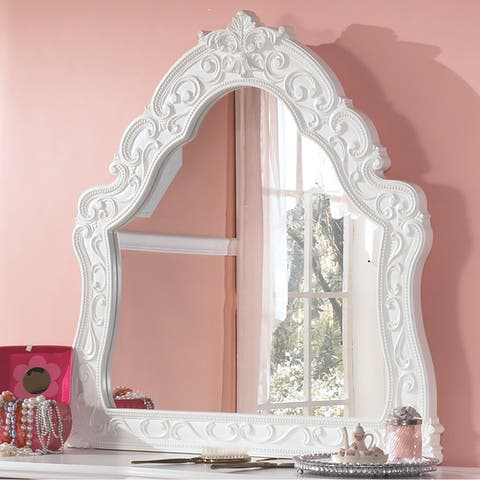 Exquisite French Style Bedroom Mirror (Mirror Only) - White