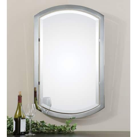 Uttermost Jacklyn Polished Chrome Plated Arched Metal Mirror - Clear - 23x37x2