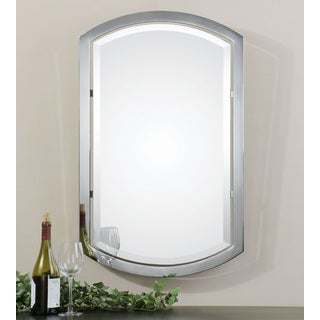 Uttermost Jacklyn Polished Chrome Plated Arched Metal Mirror