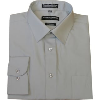 Jean Paul Germain Men's Silver Grey Convertible Cuff Dress Shirt