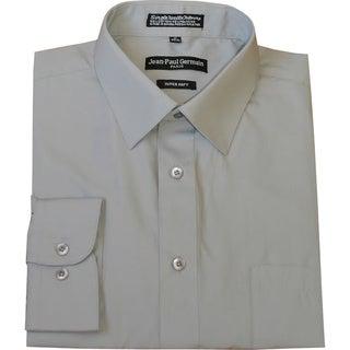 Jean Paul Germain Men's Silver Grey Convertible Cuff Dress Shirt