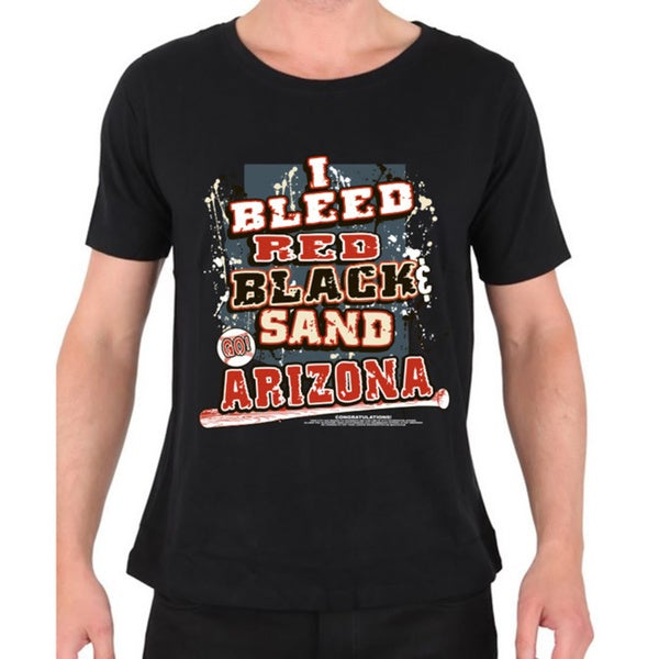 Arizona Diamondbacks 'I Bleed Red, Black & Sand Go Arizona!' Black T-shirt