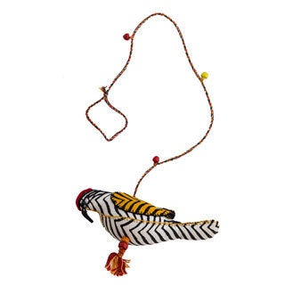 Hand-sewn Stuffed Mahratta Woodpecker Hanging Bird (India)