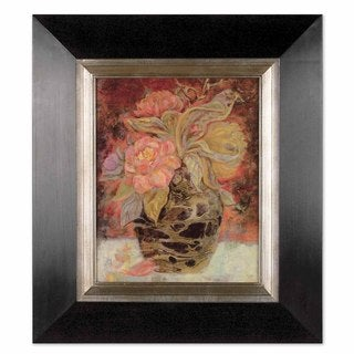 Uttermost Floral Bunda Framed Oil Canvas