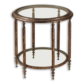 Uttermost Leilani Gold Round End Table