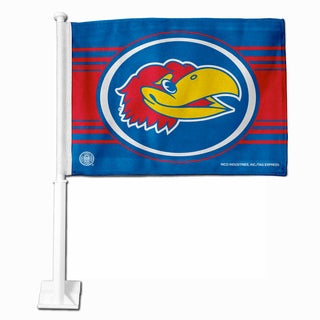 NCAA Kansas Jayhawks Car Flag