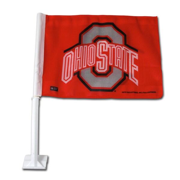 NCAA Ohio State Buckeyes Car Flag