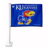 NCAA Kansas Jayhawks Car Flag