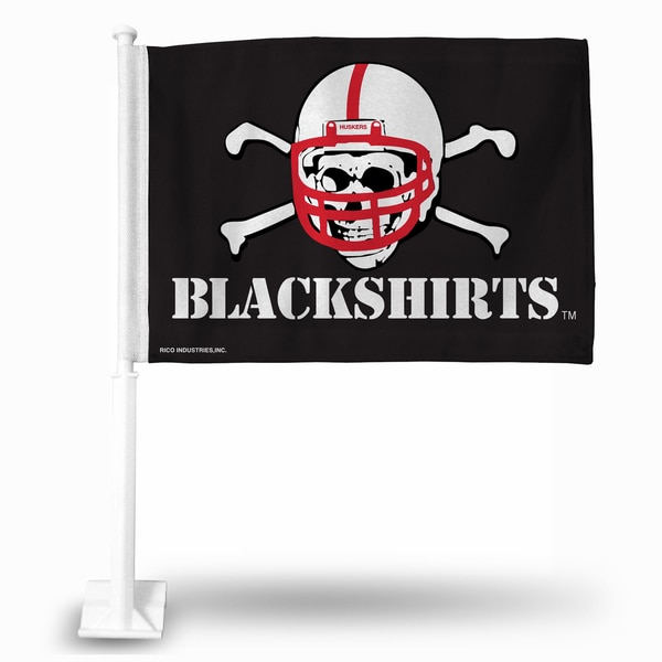 "NCAA Nebraska Huskers ""Blackshirts"" Car Flag"