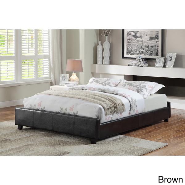 Shop Furniture of America Miuralli Leatherette Queen-size Platform ...