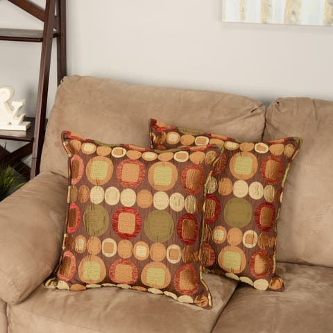 Sherry Kline Metro Spice 20-inch Decorative Throw Pillows (Set of 2)