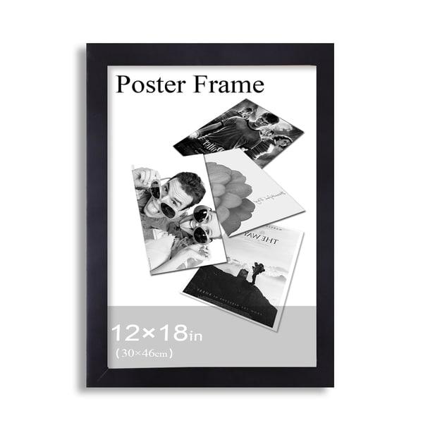 Shop Adeco Clear Plexiglass Window Black Poster Frame (12 x 18 ...