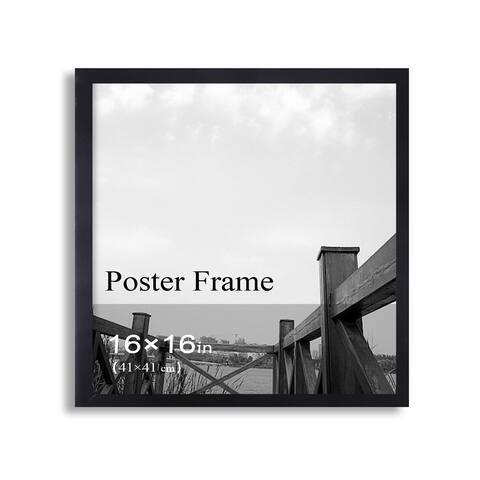 Adeco Clear Plexiglass Window Black Poster Frame (16 x 16 inches)
