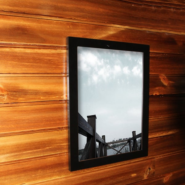 Adeco Clear Plexiglass Window Black Poster Frame (16 x 20 inches)