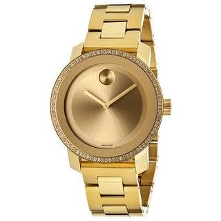 Movado Bold Women's Diamond & Goldtone IP Stainless Steel Watch