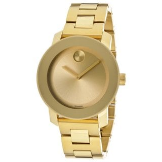 Movado Bold 3600085 Women's Champagne Dial Yellow Gold Stainless Steel Watch