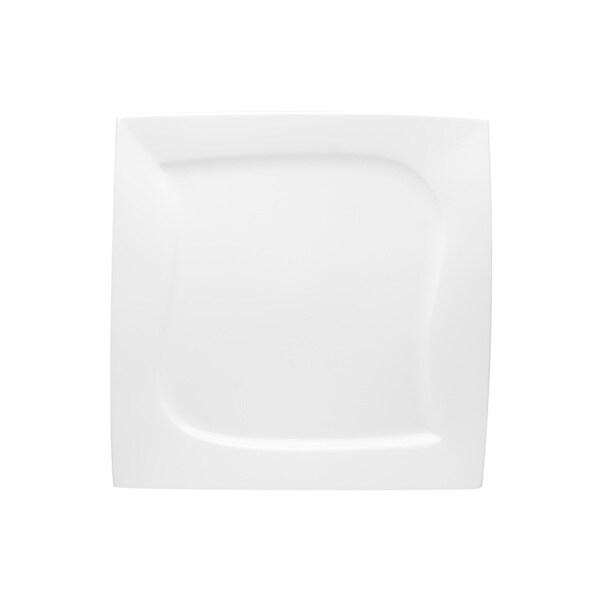red vanilla 39 niagara 39 white square 10 inch dinner plate set of 6