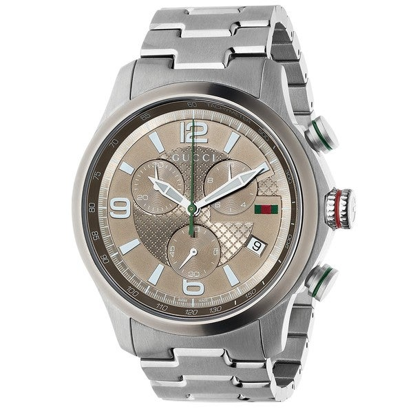 3a9a6b6cbc1 Shop Gucci Men s YA126248  Gucci G-Timeless  Chronograph Stainless Steel  Watch - Free Shipping Today - Overstock - 9086158