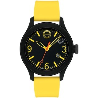 ESQ by Movado Men's Black Dial Yellow Strap Watch