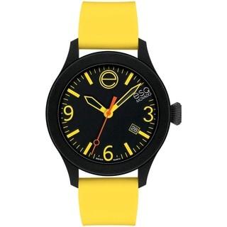 ESQ by Movado Men's Black Dial Yellow Strap Watch