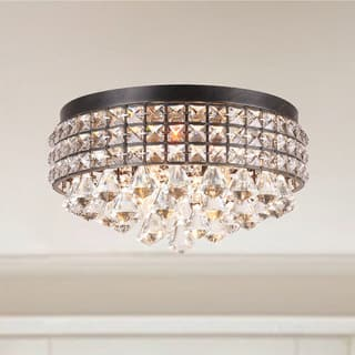 Jolie Iron Shade Crystal Flush Mount Chandelier|https://ak1.ostkcdn.com/images/products/9086196/P16276264.jpg?impolicy=medium