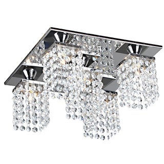 Ivana 5-light Crystal Square Flush Mount Chandelier