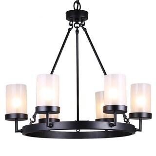 Pine Canopy Ocala 6-light Black Linear Glass Globe Chandelier