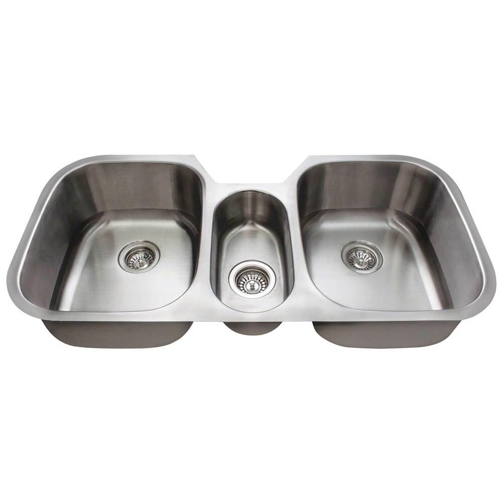 Triple Bowl Undermount Kitchen Sink