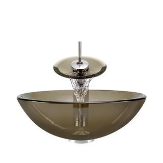 Polaris Sinks Taupe/ Chrome 4-piece Bathroom Sink Ensemble