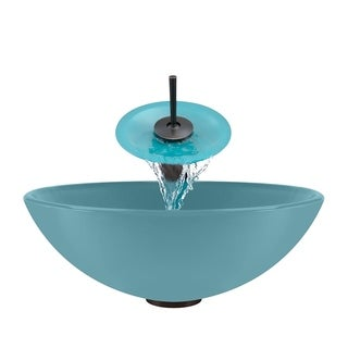 Polaris Sinks Turquoise/ Oil Rubbed Bronze 4-piece Bathroom Sink Ensemble