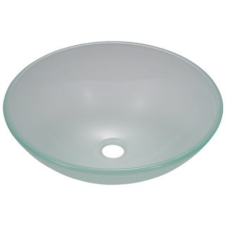 Polaris Sinks P206 Frosted Glass Vessel Sink