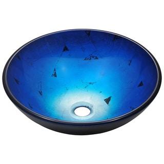 polaris sinks p446 foil undertone royal blue glass vessel