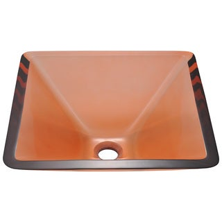 Polaris Sinks Coral Colored Glass Vessel Sink