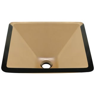 Polaris Sinks Taupe Colored Glass Vessel Sink