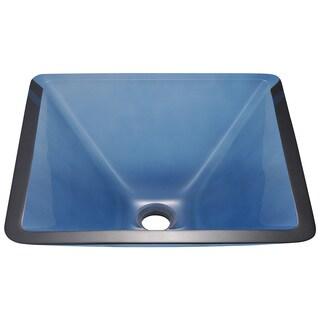 Polaris Sinks Aqua Colored Glass Vessel Sink