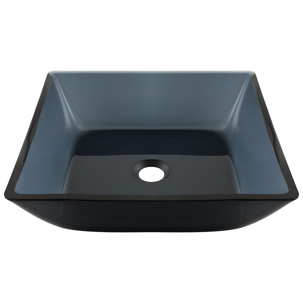 Polaris Sinks Black Square Vessel Bathroom Sink (Square Black)