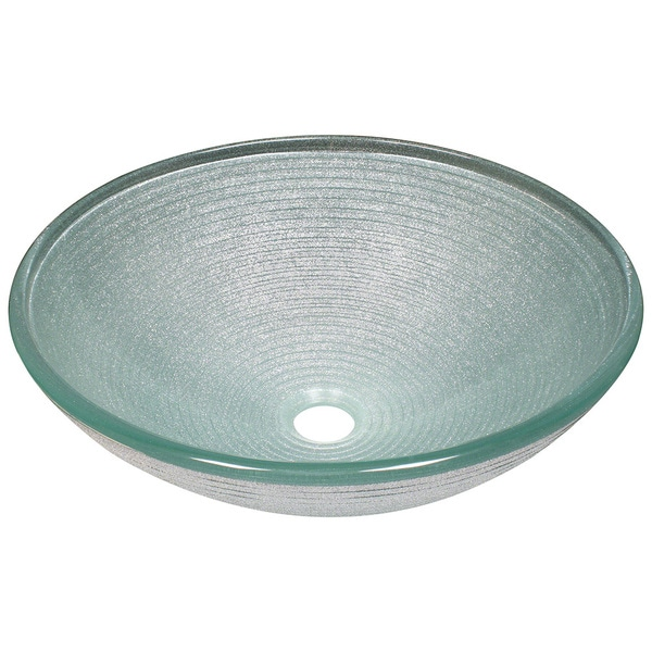 Polaris Sinks P636 Iridescent Foil Underlay Glass Vessel Sink. Polaris Sinks P636 Iridescent Foil Underlay Glass Vessel Sink