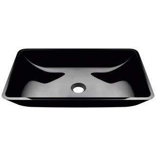 Polaris Sinks P046 Black Coloured Glass Vessel Bathroom Sink