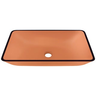Polaris Sinks P046 Coral Coloured Glass Vessel Bathroom Sink