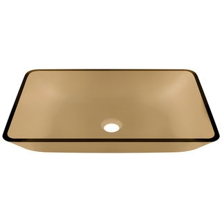 Polaris Sinks P046 Taupe Coloured Glass Vessel Bathroom Sink