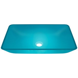 Polaris Sinks P046 Turquoise Coloured Glass Vessel Bathroom Sink