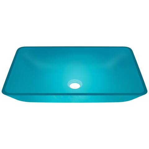 Polaris Sinks P046 Turquoise Coloured Glass Vessel Bathroom Sink