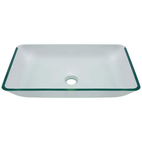 Polaris Sinks P046 Crystal Glass Vessel Bathroom Sink